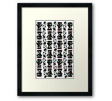 Tiki Happy Tiki Angry Framed Print