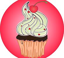 Sweet tasty cupcake retro poster american symbol by LonaBon