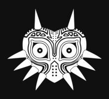 Majora's Mask (Tattoo, white) One Piece - Short Sleeve