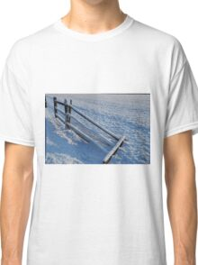Snowy Fence Classic T-Shirt