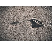 Footprint in the Sand Photographic Print