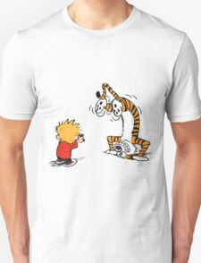 Calvin and Hobbes take a picture T-Shirt
