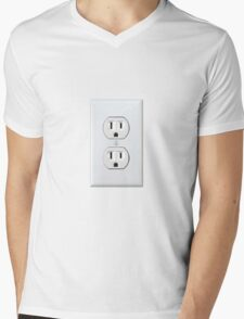 There's never an outlet where you need one. Mens V-Neck T-Shirt