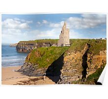 view of the  Ballybunion castle beach and cliffs Poster