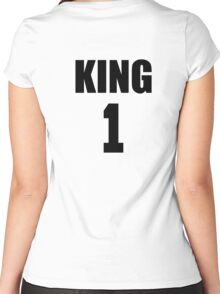 KING (Black) The His of The His and Hers couple shirts Women's Fitted Scoop T-Shirt
