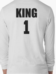 KING (Black) The His of The His and Hers couple shirts Long Sleeve T-Shirt