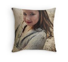 she is my first  Throw Pillow