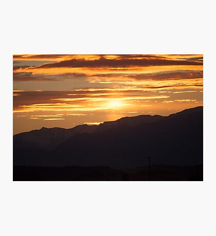 Sunset in the mountains Photographic Print