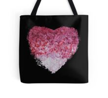 go back to the world - Abstract Heart Art - Pink Tote Bag