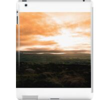 view of the Kerry coast with telegraph masts iPad Case/Skin