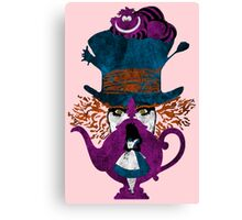 Wonderland (light pink) Canvas Print