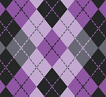 Purple Argyle by Lisann