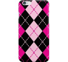 Pink Argyle Design iPhone Case/Skin