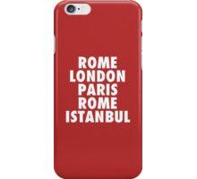 Liverpool Champions League Destinations. iPhone Case/Skin