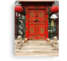 Chinese red door Canvas Print