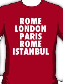 Liverpool Champions League Destinations. T-Shirt