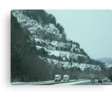 Snowy Mountains & Road Canvas Print