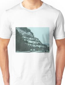 Snowy Mountains & Road Unisex T-Shirt