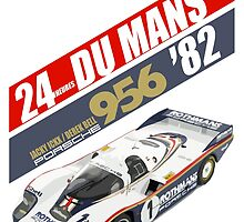 Le Mans 24 Hours 1982 Porsche 956 Ickx Bell by notstig
