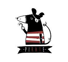 Pirate Rat Photographic Print