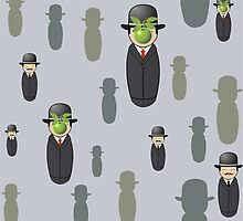 Magritte pattern by Pendientera