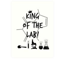 King of the Lab! 3  Art Print