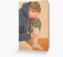 Self Portrait By Numbers Greeting Card