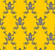 Fabulous Frogs - Bold Yellow by lottibrown