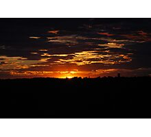 Vivid Sunset Changing Colors Photographic Print