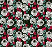Parasol Garden - Pink and Green by Andrea Lauren by Andrea Lauren