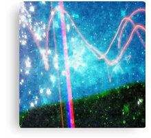 Abstract Colourful Landscape and Night Sky. Canvas Print
