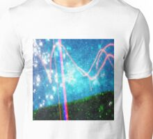 Abstract Colourful Landscape and Night Sky. Unisex T-Shirt