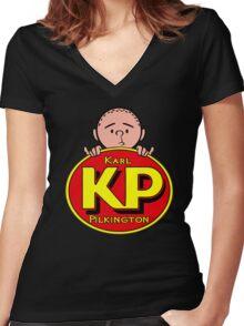 Karl Pilkington - KP Women's Fitted V-Neck T-Shirt