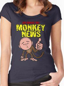 Karl Pilkington - Monkey News Women's Fitted Scoop T-Shirt