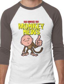Karl Pilkington - Monkey News Men's Baseball ¾ T-Shirt