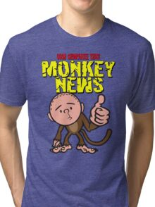 Karl Pilkington - Monkey News Tri-blend T-Shirt