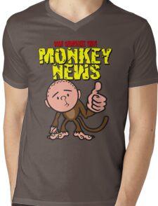 Karl Pilkington - Monkey News Mens V-Neck T-Shirt