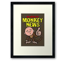 Karl Pilkington - Monkey News Framed Print