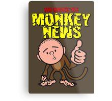 Karl Pilkington - Monkey News Metal Print