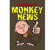 Karl Pilkington - Monkey News Photographic Print