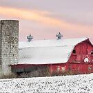 Winter Barn at Sundown by Kenneth Keifer