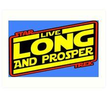 Live Long & Prosper Strikes Back Art Print