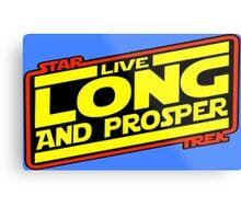 Live Long & Prosper Strikes Back Metal Print