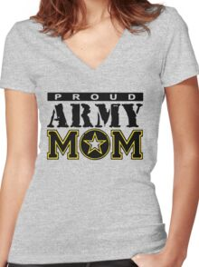 Proud Army Mom Women's Fitted V-Neck T-Shirt