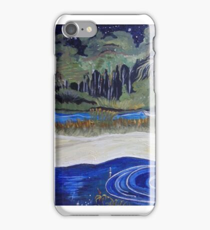 Swamp at night iPhone Case/Skin
