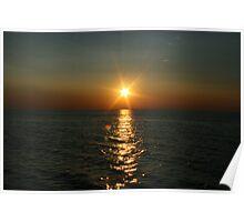 Sunset @ Lake Michigan Poster
