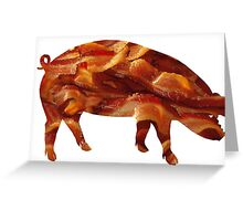 Tasty Bacon Pig Greeting Card