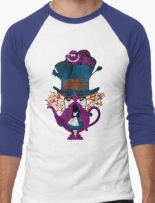 Wonderland (white) Men's Baseball ¾ T-Shirt