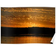 Sunrise Over Lake Joondalup Poster