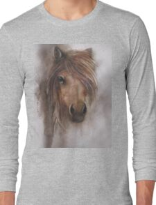 Horse equine animals,wildlife,wildlife art,nature Long Sleeve T-Shirt